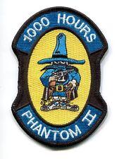 McDONNELL F-4 PHANTOM 1000 FLIGHT HOURS USAF NAVY USMC Squadron Jacket Patch