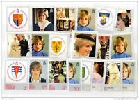 Princess Diana 1982 21st Birthday Sets x 4 BAT - Mint MNH  X2890