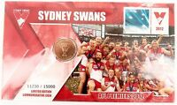 .2012 $1 PNC SYDNEY SWANS AFL PREMIERS LIMITED EDITION COIN PACK. MINT UNOPENED