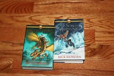 The Heroes of Olympus Books 1 & 2 Hardcover with DJ - Rick Riordan 1st editions