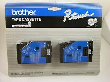Brother P-touch Tape Cassette - Black on Clear TC-10