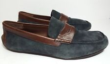 Born H10034 Braydon Two-Toned Navy Casual Driving Moc Penny Loafers Sz US 11.5