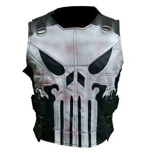 The Punisher War Skull Season 2 Thomas Jane Tactical Leather Vest