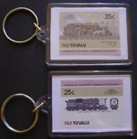 1928 Boston & Albany Class D1a 4-6-0 Train Stamp Keyring (Loco 100)