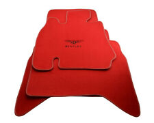 Floor Mats For Bentley Arnage 1998-2009 With Bentley Emblem Tailored Red Set LHD