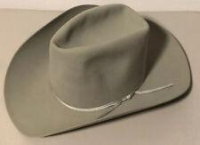 AMERICAN HAT CO. FELT GRAY COWBOY HAT SIZE 7/1/8~AMERICAN 22~W/ HAT BAND