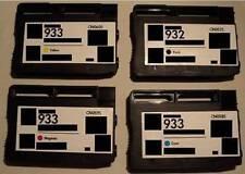 4 Refilled PATRONEN 932 XL 933XL f HP Officejet 6100 6600 6700 7110 7610 +CHIP