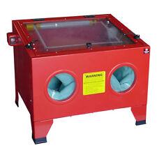 Portable Abrasive Sand Blasting Bench Top Blaster Blast Large Cabinet