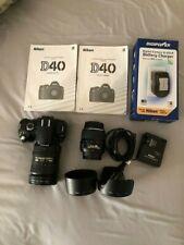 Nikon D D40 6.1MP Digital SLR Camera and two lenses