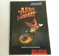 AERO The ACRO-BAT SNES Game Instruction Booklet Manual - Super Nintendo