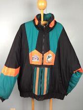 Mens XL Pro Player Miami Dolphins Reversible Jacket Coat 90s Hip Hop Rap NFL