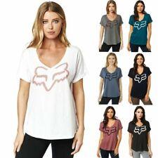 NEW Fox Racing Womens Responded Roll Sleeve T-Shirt Casual Top Tee Shirt XS-XL