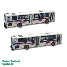 N Scale Bus , Vehicle (QTY 2 pcs), - Pre-Cut Card Stock Kit (PAPER) CT1N