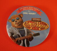 Disney's - The Country Bears  -  DVD Advertising Pin On Button