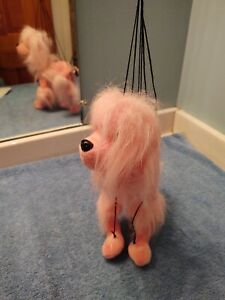 6 String Marionette Pink Poodle Stuffed Animal Toy, puppet