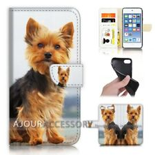 ( For iPod Touch 6 ) Wallet Flip Case Cover AJ40219 Cute Dog