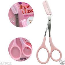 1Pcs Stainless Steel Eyebrow Hair scissors Comb Makeup Trimmer Tweezers Tool New