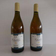 2 bouteilles CHABLIS 2002 Robert CHALMEAU propriétaire récoltant France