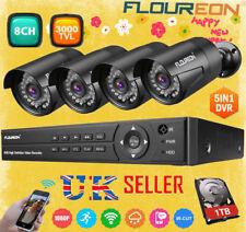 FLOUREON 1TB HDD+8CH 1080N CCTV DVR+3000TVL Outdoor Video Security Camera System