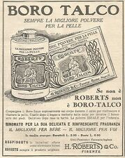 W7258 Boro Talco ROBERTS - Pubblicità del 1932 - Old advertising