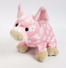 "7"" Ganz Pink Daisy Pig Plush Stuffed Realistic Webkinz Classroom HM625 no code"