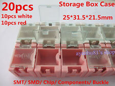 20pcs SMT SMD Kit Laboratory chip Components Mini plastic Storage Box Case