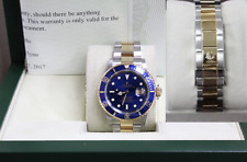 ROLEX SUBMARINER BLUE 16613 STAINLESS STEEL & 18K GOLD THROUGH THE BUCKLE 2005