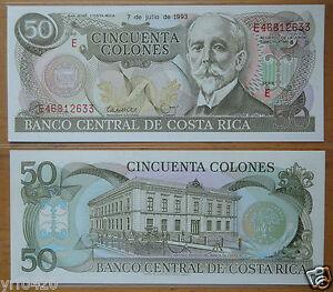 Costa Rica Banknote 50 Colones 1993 UNC