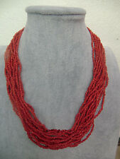Rare Tibet Tribal jewelry Silver Red Coral Necklace