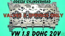 VW AUDI TT PASSAT JETTA 1.8 DOHC 20V CYLINDER HEAD VALVES & SPRINGS ONLY REMAN