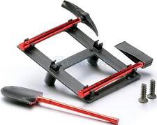 Tool Rack Scale accesory Set for Bodyshell Pick Axe Shovel + Axe RC Crawler