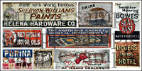 HO SCALE WEATHERED BUILDING GHOST SIGN DECALS #14a