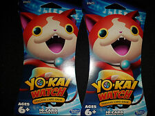 2x Yo-Kai Watch Trading Card Game 10-Card Booster Pack |BRAND NEW SEALED