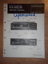 Kenwood Service Manual~KX-66CW Cassette/Tape Deck/Player~Original Repair