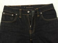 Nudie Slim Jim Jeans NJM133 Dry Black Stretch Size 30 x 34