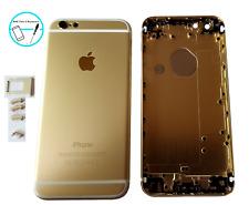 Backcover Akkudeckel Rück Cover Gehäuse Rahmen für iPhone 6 Weiß Gold Taste