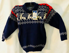 NWT machine washable wool kids Reindeer sweater made in Norway sz 6