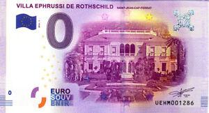 06 SAINT-JEAN-CAP-FERRAT Villa Ephrussi, 2016, Billet Euro Souvenir