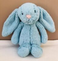 Jellycat Small Bashful Aqua Bunny Rabbit Soft Toy Comforter Green Blue Baby