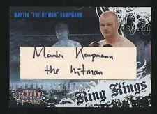 "2008 Donruss Playoff MARTIN ""The Hitman"" KAMPMAN Ring Kings auto /100 UFC"