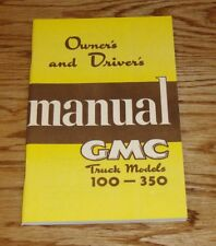 1950 GMC Truck Owners and Drivers Operators Manual Models 100-350 50