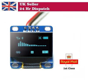 """0.96"""" BLUE 12C Serial 128X64 OLED LCD LED Display Module for Arduino Pi"""
