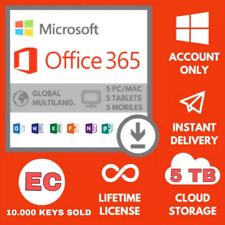 Microsoft Office 365 Pro Plus LIFETIME ACCOUNT 5 Devices (5 SEC DELIVERY)