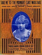 Take Me To The Midnight Cake Walk Ball 1915, Daphne Pollard, vintage sheet music