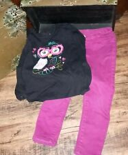 Garanimals Black Owl Shirt Long Sleeve Okie Dokie Pink Pants Size 5 5T Lot *
