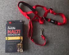 PETLIFE HALTI HEADCOLLAR ,XXL, Red