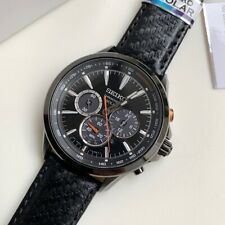 SSC499P1 Solar Chronograph Tachymeter Black Leather Watch Ivanandsophia