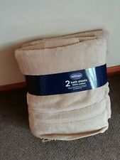 Silentnight Zero twist Pack of 2 bathsheets 100% cotton in stone New