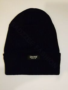Beanie Thermal Hat Mens Ladies Womens Slouch Winter Woolly Ski Knitted Turn up