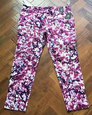 BNWT Atmosphere Stretchy Jeggings Purple Pattered 2 front pockets